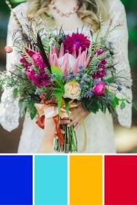 Inspiration couleurs pour un mariage ethnique en bleu